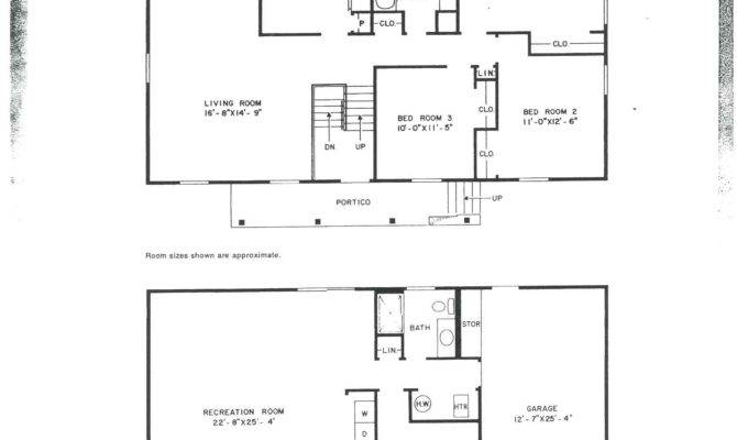 Level Floor Plans Attached Garage Beste Awesome