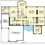 Level Home Plans Attached Garage Awesome Split