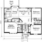 Level House Plans Attached Garage Home Design