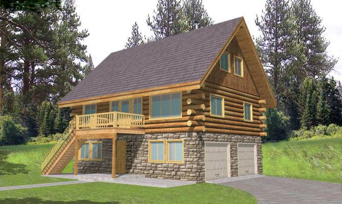Leverette Raised Log Cabin Home Plan House