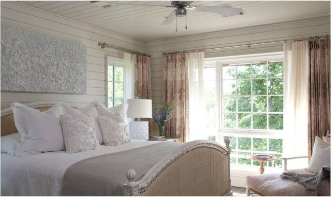 Light Airy Traditional Bedroom Lake House