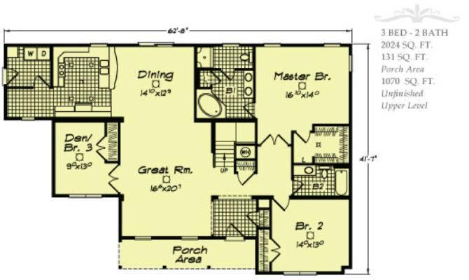 Linden Floor Plan Aiken Modular Center
