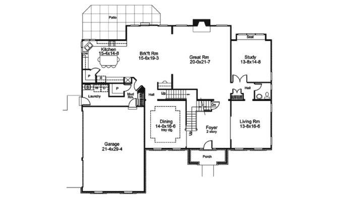 Linden Heights Traditional Home Plan House