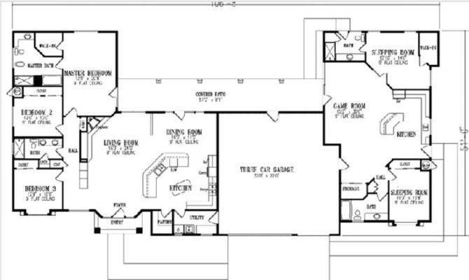 Little Strange But Work Multi Generational House Plans