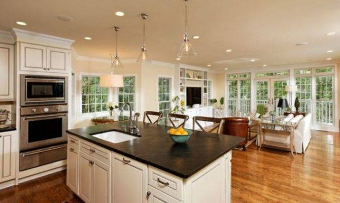 Living Room Kitchen Designs Layouts Open