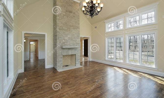 Living Room Two Story Fireplace