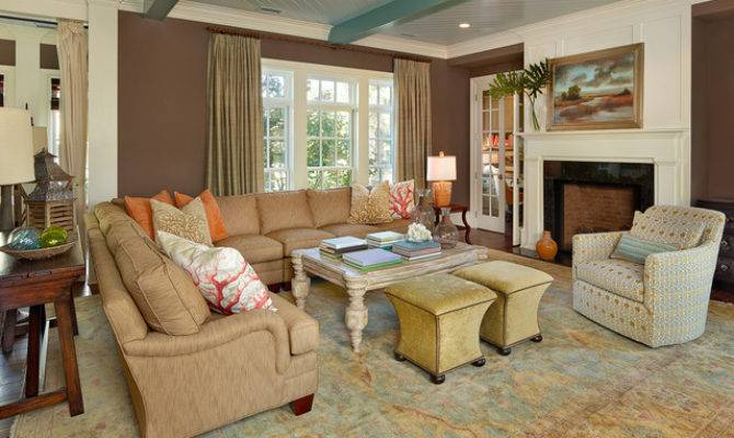 Living Southern Beach Style Room Charleston