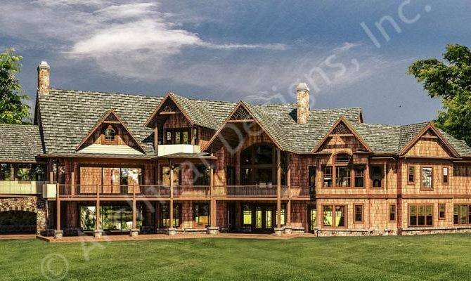 Lodge House Plan Mountain Archival Rustic Designs