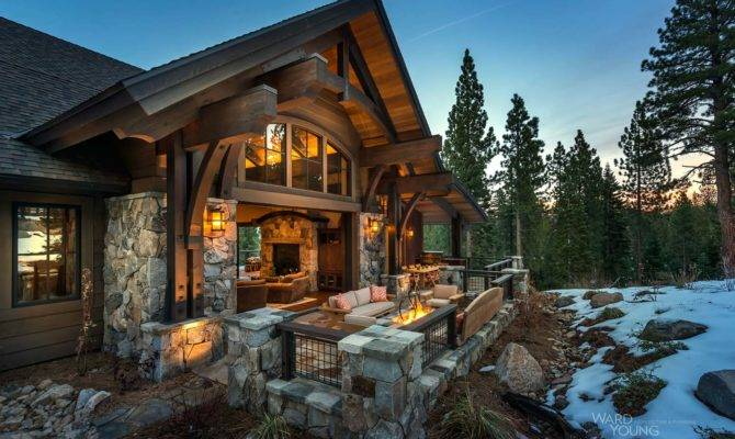 Lodge Style Home Blends Rustic Contemporary Martis Camp