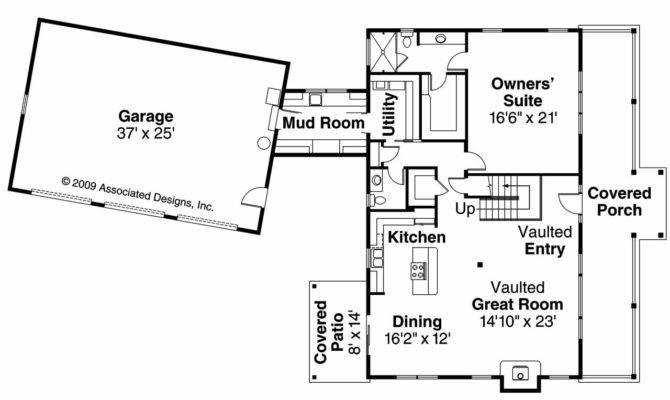 Lodge Style House Plan Elkton Floor