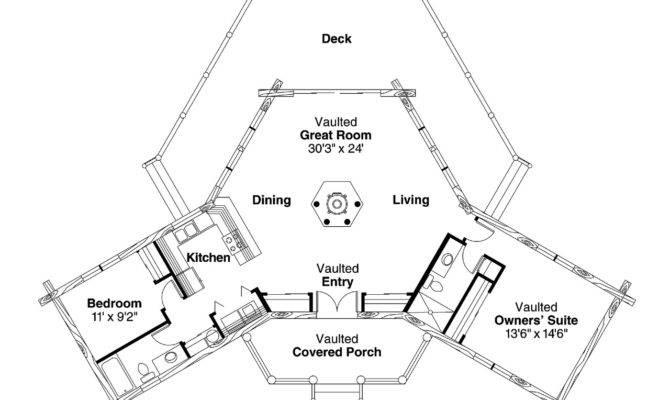 Lodge Style House Plan Ridgeline Floor