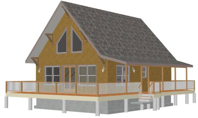 Loft Cabin Building Plans Small Den Area Which Overlooks