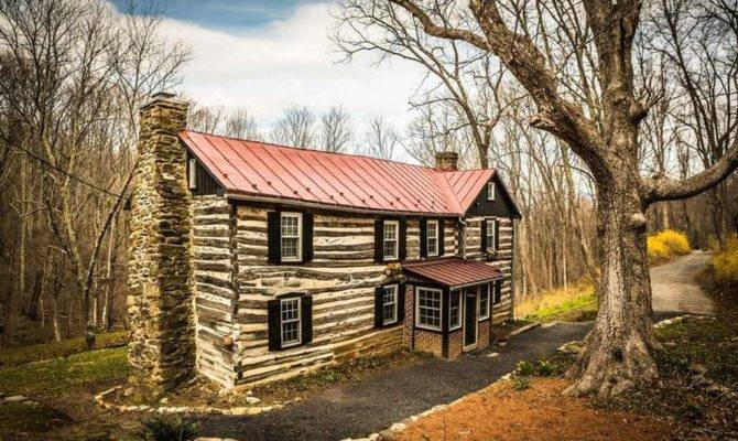 Log Cabin Amazing Condition Circa Old Houses