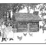 Log Cabin Drawing Sanders