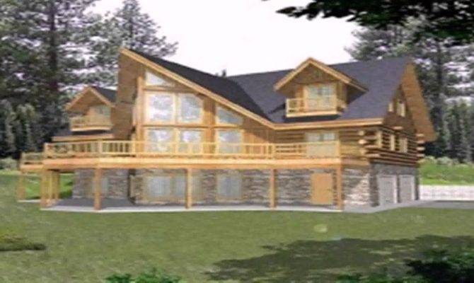 Log Cabin Floor Plans Walkout Basement Youtube