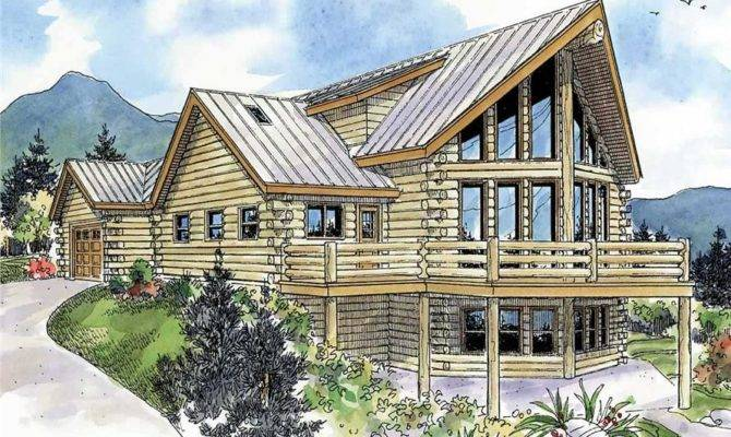 Log Cabin House Plans Attached Garage