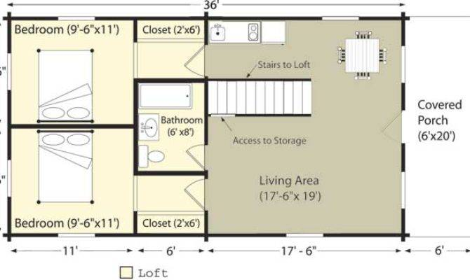 Log Cabin Plans Features Small Floor Home