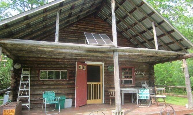 Log Cabin Solar Vermont Tiny House Small Home