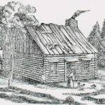 Log Cabin Woods Drawing