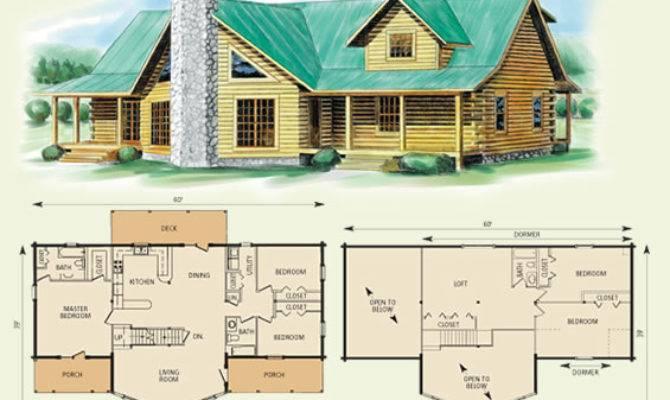 Log Home House Plans Loft Deco