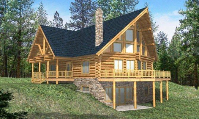 Log Home Plans Walkout Basement Memes