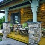 Log Home Porch Design Interiors Pinterest