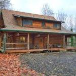 Log Home Porch Idea Cabin House Pinterest