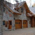 Log Home Stone Garage Dream Pinterest