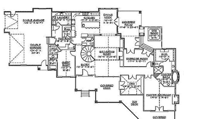 Log Mansion Floor Plans Craftsman Vacation Home