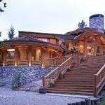 Log Stone Home Cabin Life Strive Pinterest