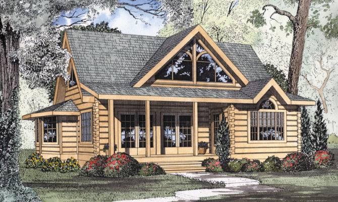 Logan Creek Log Cabin Home Plan House Plans
