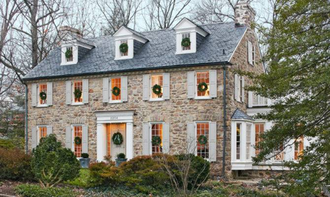 Love Look American Colonial Stone Houses They