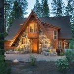 Love Stone Front Log Cabin Cozy Pinterest