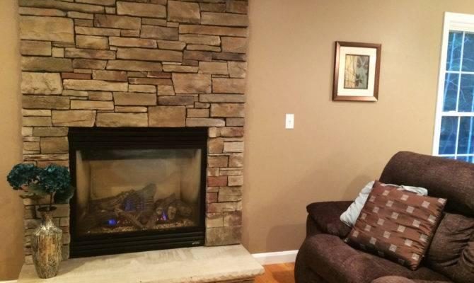 Lovely Floor Ceiling Brick Fireplace Makeover Home