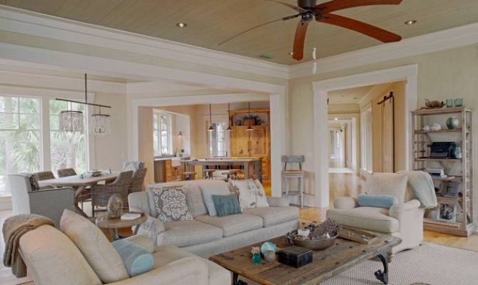 Low Country Tree House Beach Style Living Room