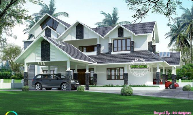 Luxurious Car Porch House Kerala Home Design Bloglovin