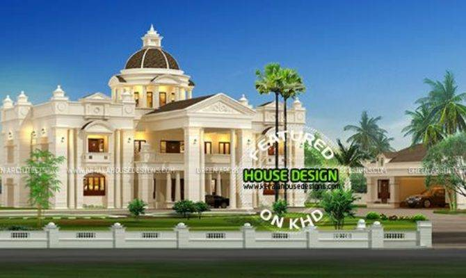 Luxurious Mansion Home Kerala Design