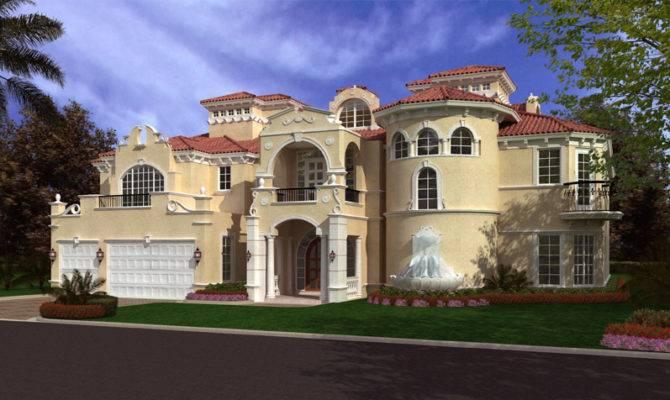 Luxurious Spanish Mediterranean Style Waterfront Home