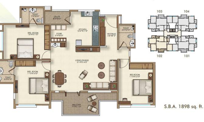 Luxury Bhk Apartments Bharuch House Plan Narayan