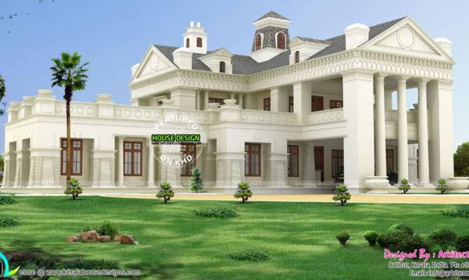 Luxury Colonial Model Indian Home Design Kerala