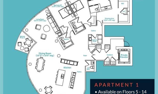 Luxury Condo Floor Plans Aquatica Bayshore