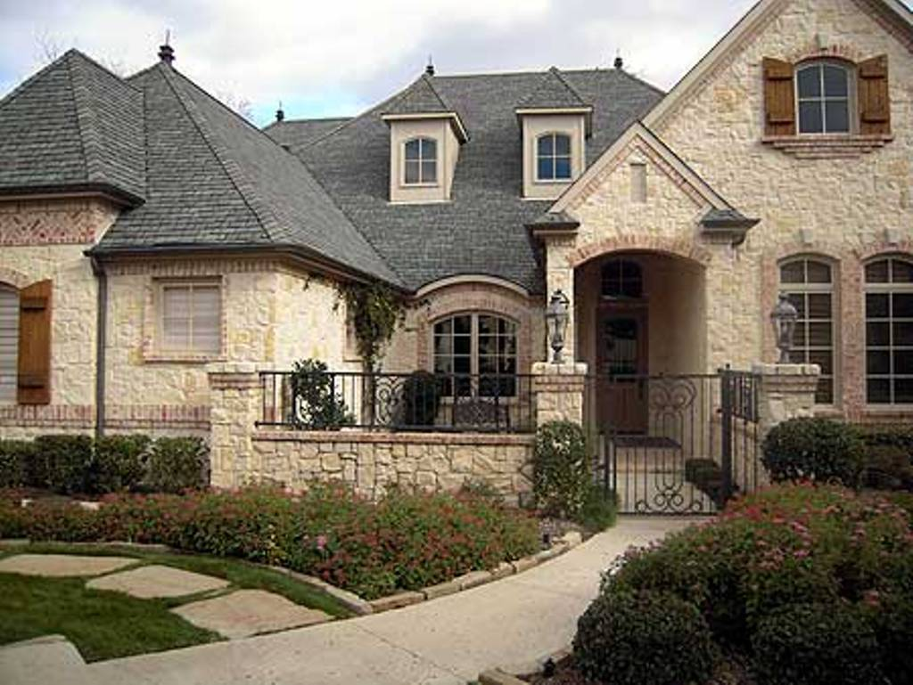 Luxury French Country Home Architecture Black Iron Fences