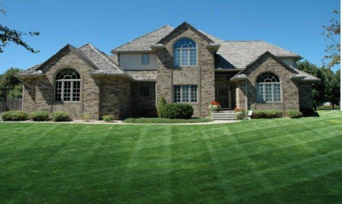 Luxury Home Designs Classic Brick Walls House Large