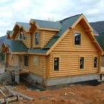 Luxury Home Designs Log Plans Orange Wooden House