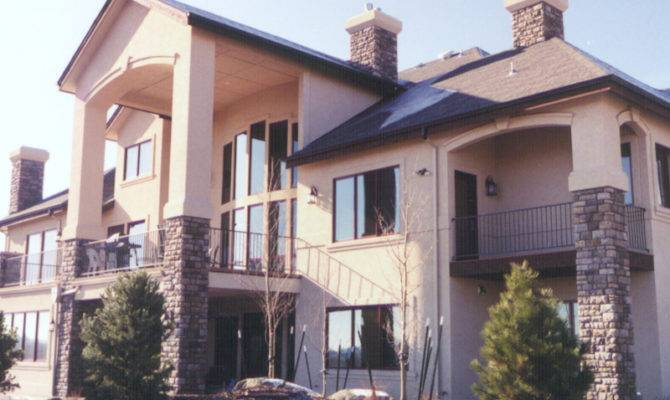 Luxury House Plan Rear Plans More