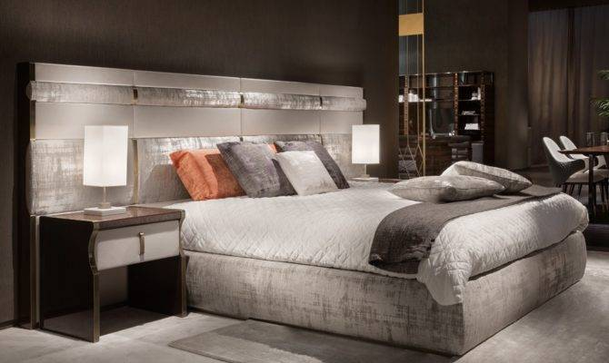 Luxury Italian Bed Large Nubuck Leather Headboard