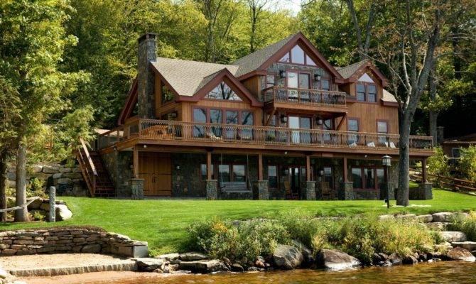 Luxury Lake House Plans Walkout Basement