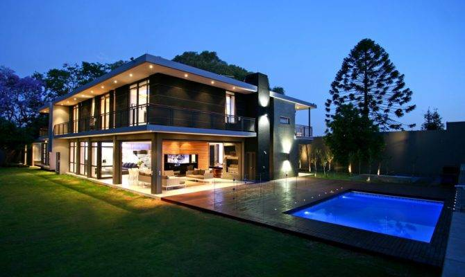 Luxury Large Contemporary House Pools Home Building Furniture