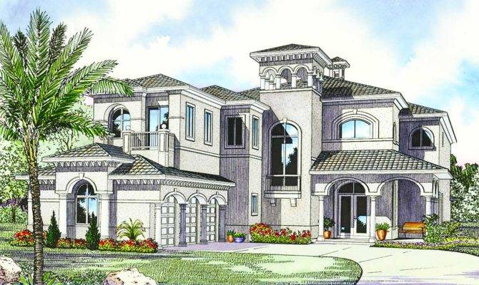 Luxury Mediterranean House Plan Architectural