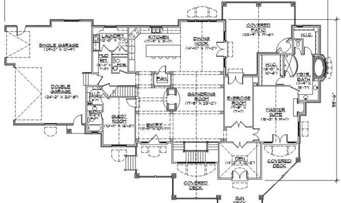Luxury One Story House Plans Home Design Style